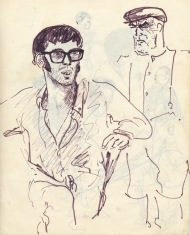232 pestalozzi sketches - dave & chief gardener