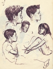 233 pestalozzi sketches - tibetans