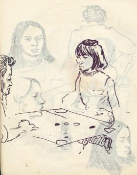 239 pestalozzi sketches - tibetan girl