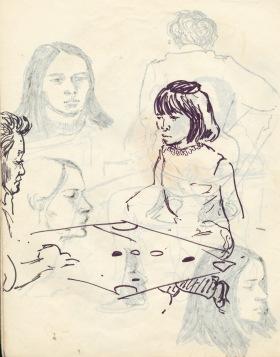 239 pestalozzi sketches - tibetan girl