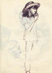 244 pestalozzi sketches - tibetan girl