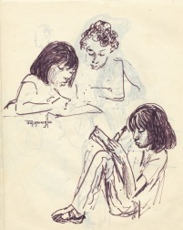 245 pestalozzi sketches - tibetan girls