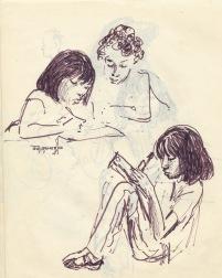 245 pestalozzi sketches - tibetan girls