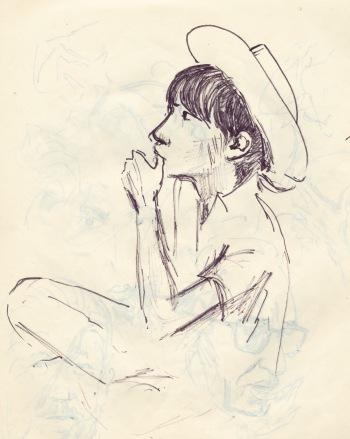 250 pestalozzi sketches - tibetan girl