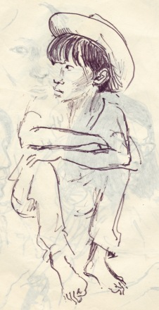 251 pestalozzi sketches - tibetan girl