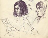 252 pestalozzi sketches - tibetan girls