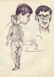 254 pestalozzi sketches - brian, max, dave