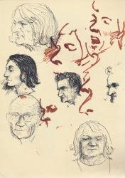 270 Pestalozzi sketches - La Coume - Yves, Pierre, Monique