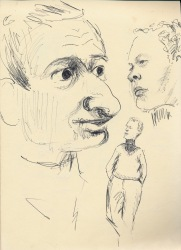 271 Pestalozzi sketches - Alain and Brian