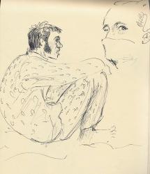 272 Pestalozzi sketches - dave and marie claude