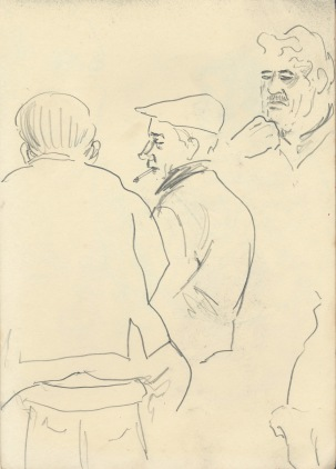 273 Pestalozzi sketches - character studies