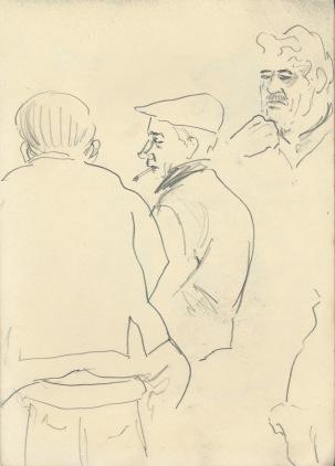 273 Pestalozzi sketches - character studies