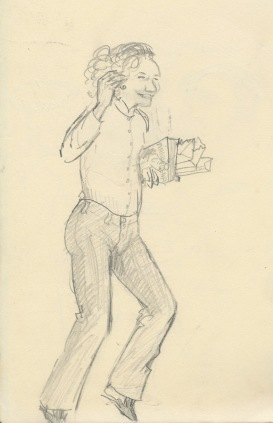 274 Pestalozzi sketches - Marie claude celebrating