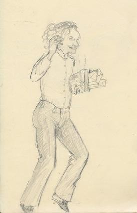 274 Pestalozzi sketches - Marie claude celebrating