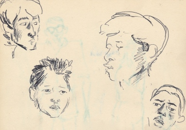 280 Pestalozzi sketches - Tibetan boys
