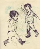 281 Pestalozzi sketches - The terrible twins