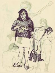 287 Pestalozzi sketches - Debbie & Vreni
