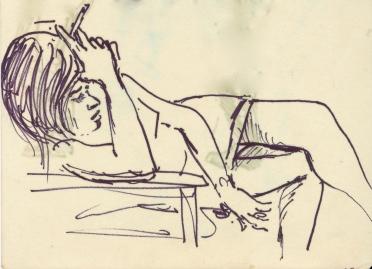 289 Pestalozzi sketches - young girl