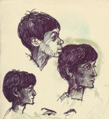 294 Pestalozzi sketches - Shyama & young boy