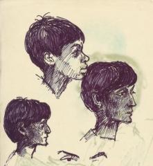 294 Pestalozzi sketches - Shyama & young boy