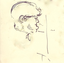 295 Pestalozzi sketches - Violinist