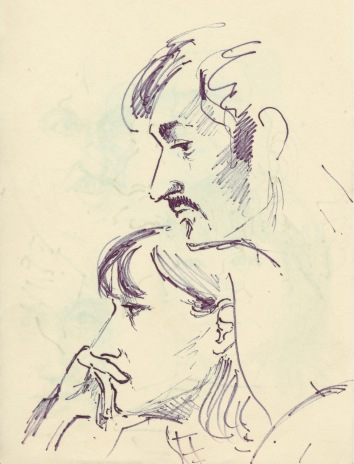 296 Pestalozzi sketches - glum lovers