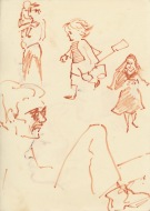 298 Pestalozzi sketches - child and nun