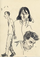 312 Pestalozzi sketches - Mr Mountain, Vreni & Mr Campbell
