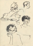 316 Pestalozzi sketches - lunch