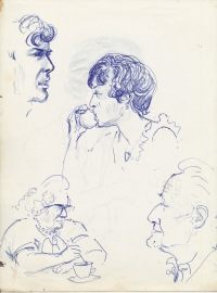 334 Pestalozzi sketches - elevenses