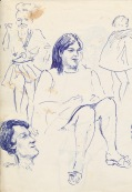 335 Pestalozzi sketches - Janet, Marie claude, debbie