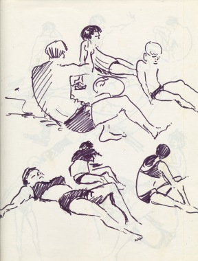 336 Pestalozzi sketches - hastings beach