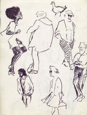 337 Pestalozzi sketches - hastings beach 1