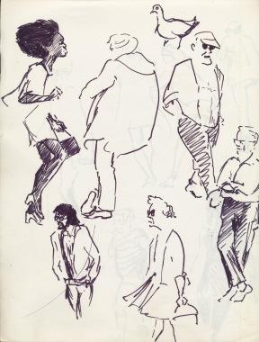 337 Pestalozzi sketches - hastings beach 1