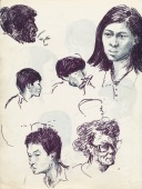 339 Pestalozzi sketches - Tibetans