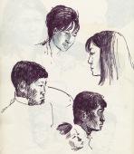 340 Pestalozzi sketches - Tibetans