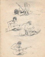 95 pestalozz sketches - guitarist on beach