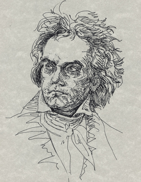 Beethoven after the painting by F.Schimon