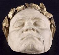 Klein, Franz / Micheli: Beethoven-Maske mit Lorbeerkranz, nach der Lebendmaske von Klein