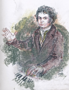 Beethoven, after the Joseph Mahler portrait