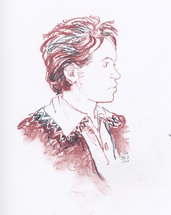 A sketch of Beethoven in his teens.  This one 'works' for me - and took just a few minutes.