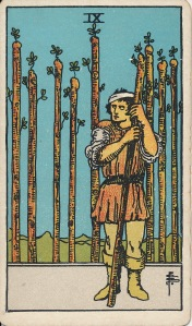 Rider Waite 9 of Wands