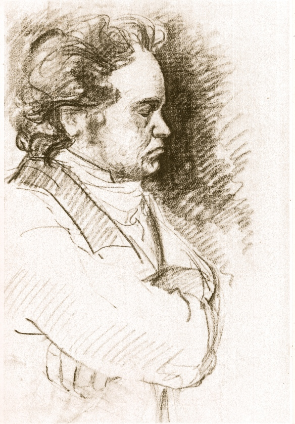 Beethoven profile - xerox of a lost sketch