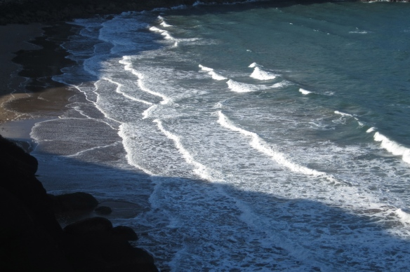 waves on musselwick sands