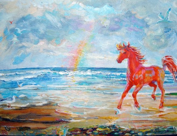 Red horse by the sea, 2008