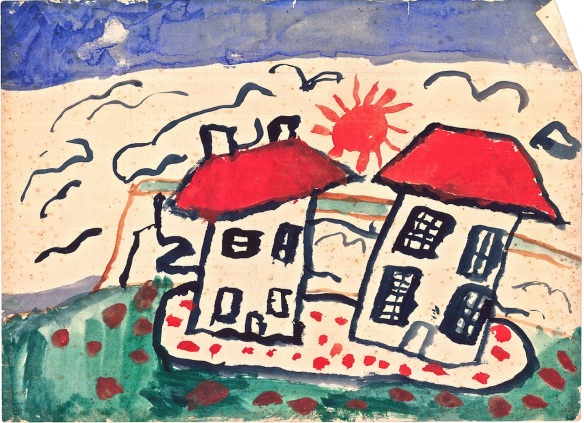 Red roofs, Cornwall, 1956
