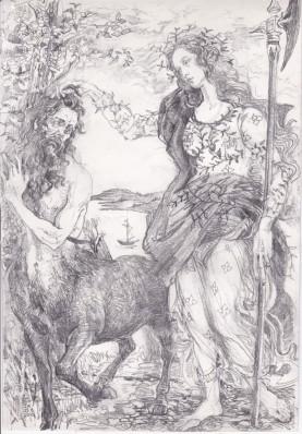 3 centaur athene 1, janeadamsart