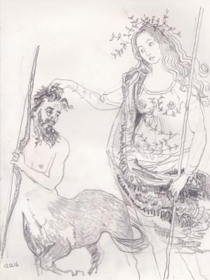 4 athena centaur 2, janeadamsart
