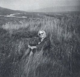 My grandmother in the grass - Easter Ross, Scotland